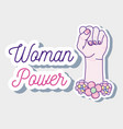 woman power cartoon vector image vector image
