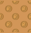 wooden russian ruble coin pattern national russia vector image vector image