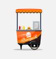 burger fast food card isolated kiosk on wheels vector image