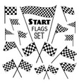 checkered flag icons vector image