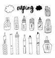 doodle smoke electronic cigarette taste the smok vector image