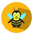 Flat bee vector image