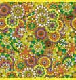 floral decorative mandala style pattern vector image
