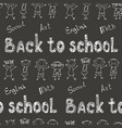 back to school - pen sketch seamless background vector image