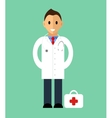 Doctor standing isolated flat style vector image