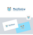 alarm logotype with business card template vector image vector image