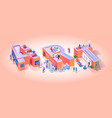art business typography letter motivation banner vector image