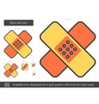Band aid line icon vector image vector image