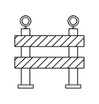 barrier restricted street stripe design outline vector image