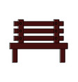 bench park decoration furniture comfort vector image vector image
