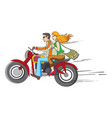 bike ride vector image