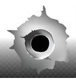 bullet shot hole on transparent background vector image vector image