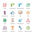 Business Icons Set 2 - Colored Series vector image vector image