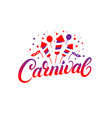 carnival hand written lettering background vector image vector image