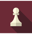 Chess pawn long shadow vector image vector image