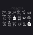 christmas and new year lettering and calligraphy vector image vector image