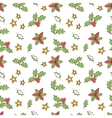 Christmas Mistletoe Seamless vector image