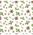 Christmas Mistletoe Seamless vector image vector image