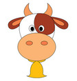 cow with bell or color vector image vector image