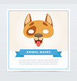 creative dog s mask funny domestic animal muzzle vector image