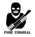Criminal person logo vector image