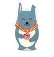 cute toy teddy bear with vector image vector image