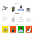 design of office and house icon set of vector image