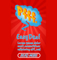 easy deal concept banner comics isometric style vector image vector image