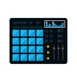 equalizer music sound dj icon graphic vector image vector image