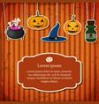 festive halloween poster vector image vector image