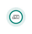 finance investment payment money dollar line icon vector image