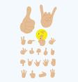 Finger gesture set vector image vector image