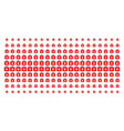 first aid kit shape halftone effect vector image