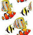 Fish Pattern3 vector image vector image