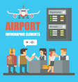 Flat design of airport infographic elements vector image vector image