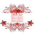 Floral Frame with Text Space vector image vector image