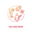 flu like signs concept icon vector image vector image
