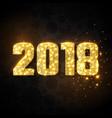 glitter numeric 2018 vector image
