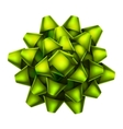 Green bow top view EPS 10 vector image vector image