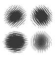 Grunge halftone textures vector image