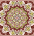 hand drawn mandala background vector image vector image