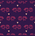 hand drawn romantic doodle pattern-15 vector image vector image