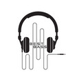 headphone icon sign vector image vector image