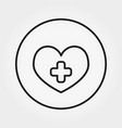 heart with cross icon editable thin line vector image