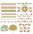 hindu ornament vector image vector image