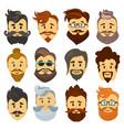 hipster barbershop cartoon european people vector image