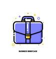 icon of briefcase for business portfolio concept vector image