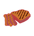 isolated grilled meat vector image vector image