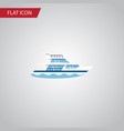 isolated ship flat icon boat element can vector image vector image