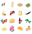 Italy isometric 3d icons vector image vector image